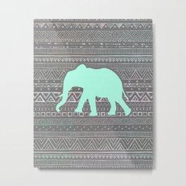 Mint Elephant  Metal Print