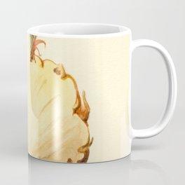 Pineapple Sliced in Half Vintage Illustration Coffee Mug