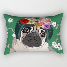 Frida-Pug Rectangular Pillow