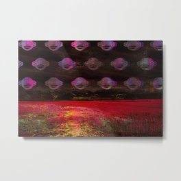 Cosmic landscape collage Metal Print