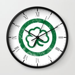 Shamrock Leaf Stamp Wall Clock
