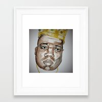 biggie smalls Framed Art Prints featuring Smalls by Nell