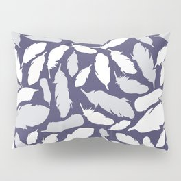Feather Pattern Blue Pillow Sham