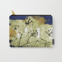 plant on blue wall Carry-All Pouch