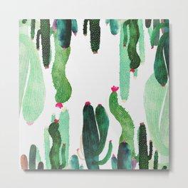 cactus green Metal Print