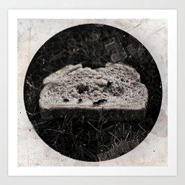 Discarded Bread Art Print
