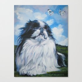 Japanese Chin dog art from an original painting by L.A.Shepard Canvas Print