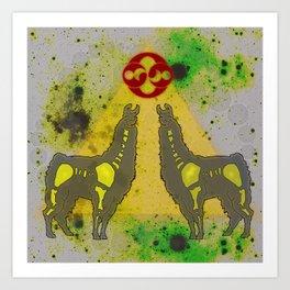 Cosmic Llama Art Print