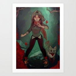 Vivid Forest Art Print