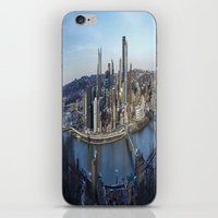 pittsburgh iPhone & iPod Skins featuring PITTSBURGH CITY by Stephanie Bosworth