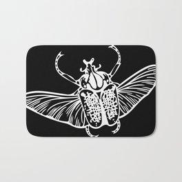 Goliath Beetle in White Bath Mat
