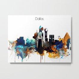 Dallas City Skyline Metal Print