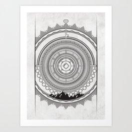 LS Mountain Mandala Art Print