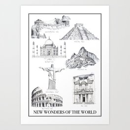 The New Wonders of the World Art Print