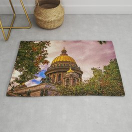 Life Up On The Hill Landscape by Jeanpaul Ferro Rug