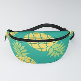 Yellow Pineapples on Teal Fanny Pack