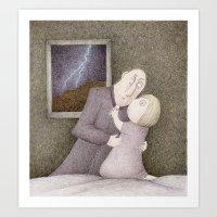 storm Art Prints featuring Storm  by Steve Bonello