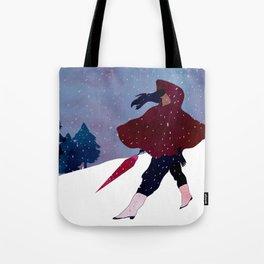 walking on snow Tote Bag