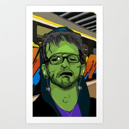 Hip Frankenstein Art Print