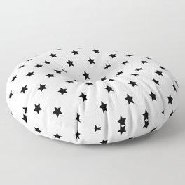 Black and white Star Pattern Floor Pillow