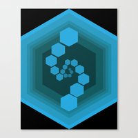 hexagon Canvas Prints featuring Hexagon by Ubik Designs