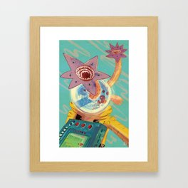 Don't Run Framed Art Print