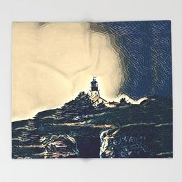 A Light In The Tempest Throw Blanket