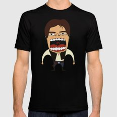 Screaming Han Solo Black X-LARGE Mens Fitted Tee
