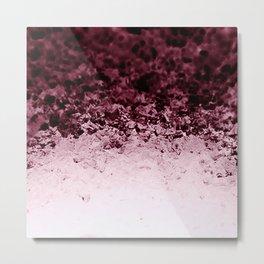 Burgundy CrYSTALS Ombre Gradient Metal Print