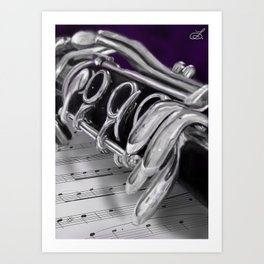 Close-Up Clarinet Art Print Art Print