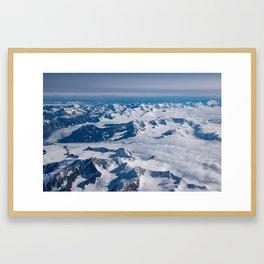 Aerial Glacier Four - Alaska Framed Art Print