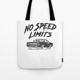 No Speed Limits Fast Tuned Engines Hot Rods Black Tote Bag
