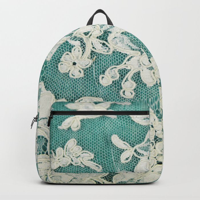 white lace - photo of vintage white lace Backpack