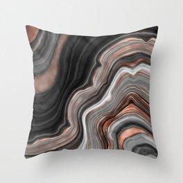 Agate Stone IV Throw Pillow