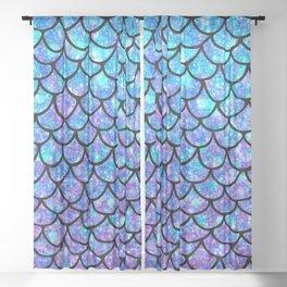 Purples & Blues Mermaid scales Sheer Curtain