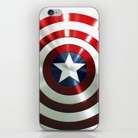 steve rogers iPhone & iPod Skins featuring Captain Steve Rogers Shields  by neutrone