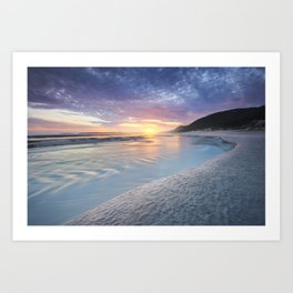 Curving into an Eleven Mile Sunset Art Print