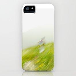 Running Downhill iPhone Case