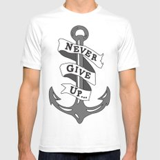 Anchor White Mens Fitted Tee MEDIUM