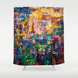 Abstract - Colorful World by Lena Owens Shower Curtain