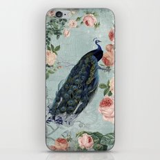 Vintage Victorian Peacock Bird and Roses Illustration on #Society6 iPhone & iPod Skin