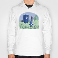 hallion Hoodies featuring Adventure in the Great Wide Somewhere by Karen Hallion Illustrations