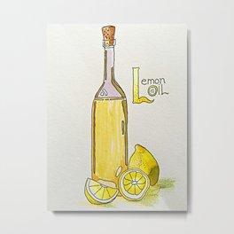 Lemon Oil Metal Print