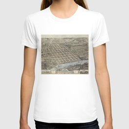 Vintage Pictorial Map of Knoxville (1871) T-shirt
