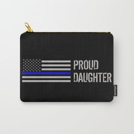 Police: Proud Daughter (Thin Blue Line) Carry-All Pouch