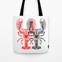 lobster Tote Bags featuring Lobster by Patrick Seymour