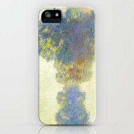 The Seine at Giverny Claude Monet 1897 Impressionist Oil Painting Nature Trees Lake Landscape iPhone Case
