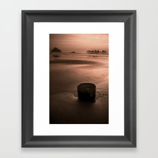 bandon beach. Framed Art Print
