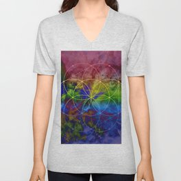 Psychedelic Seed of Life Unisex V-Neck