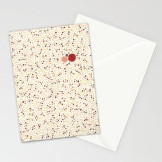 Light Background Dot Color Design Stationery Cards